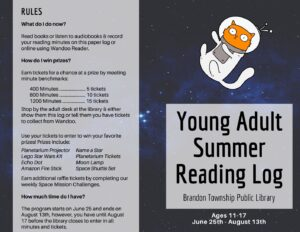 Young Adult Summer Reading Log (click to view PDF)