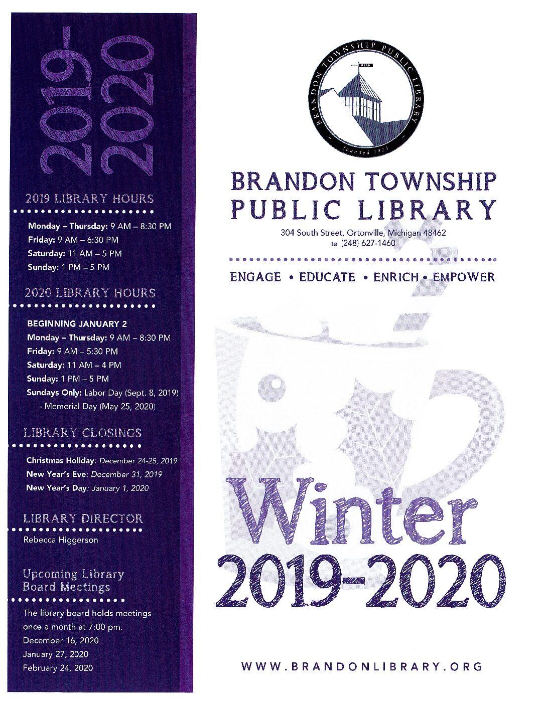 Winter Newsletter 2019-2020